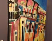 Sunset House, Original New Orleans Painting