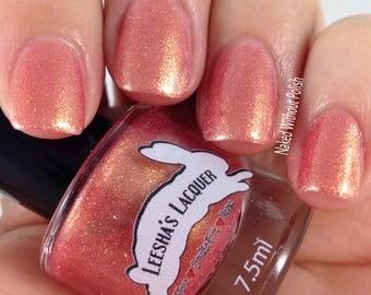 Rose Gold Shimmer Nail Polish, Pink and Gold Shifting Indie Nail Polish - Rose Gilded - Gothic Spring Collection