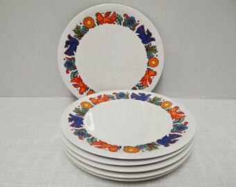 6 breakfast plates Villeroy & Boch Acapulco 70s