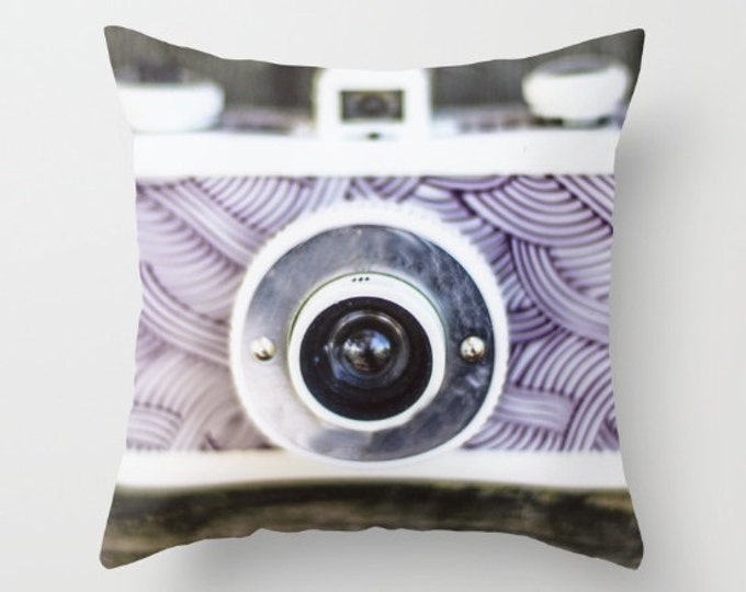 Camera Pillow Cover - Cover Only - Photographer Lover Pillow Cover - Sofa Pillow - Made to Order