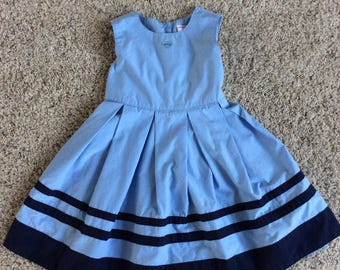 Navy and Blue dress girls 3 years