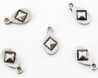 Teardrop Charm With Diamond Shape - 20 pieces (172SC)