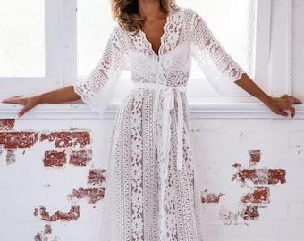 Willow Boho Lace Maxi Robe