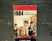 1984 George Orwell Classic, Pulp Paperback, Signet Book, First Edition, Fourth Printing, 1951, Iconic Cover Art, Gift Display Collection