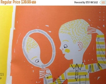 30% Off Vintage Child Book Straight Hair Curly Hair, 1966