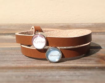 Leather strap with name