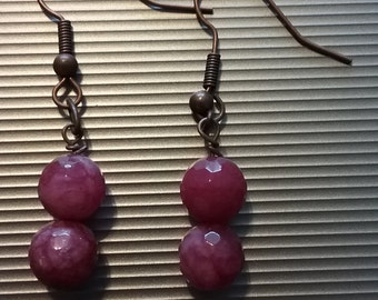 Red Beaded Earrings 2