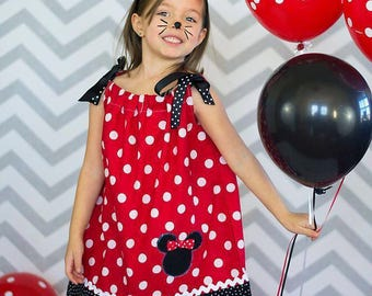 Minnie Mouse dress, vacation dress, birthday outfit, Minnie Mouse party, Minnie Mouse! Disney vacation, Disney bound, animal kingdom