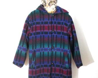 Vintage LL Bean Wool Blanket Coat // Women's Size L