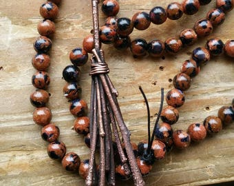 The Besome, besome prayerbeads,  besome necklace, besome protection, protection magick, magick necklace, witch necklace,