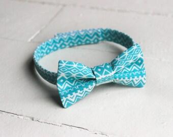 Boys Aqua Bow Tie Aqua Boys Tribal Bow Tie, Aqua Baby Bow Tie, Little Boys Easter Bow Tie, Aqua Toddler Bow Tie, Aqua Toddler Boys Bow Tie