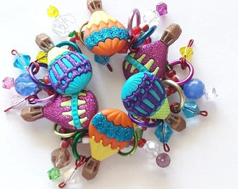 Hot air balloon bracelet/Beadiebracelet