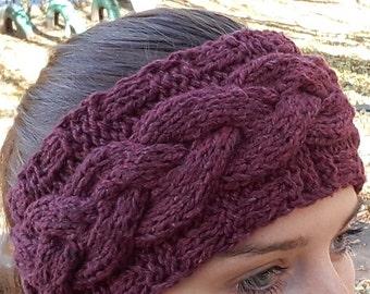 Warmer Headband, Turban Headband Ear Warmer,Knitted Head Band, Wool Headband