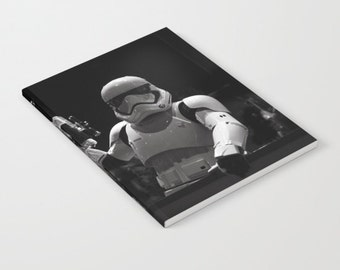 Trooper Notebook, Lined Unlined Notebook, Soft Cover, Photography Notebook, Star Wars, Storm Trooper