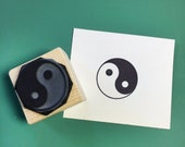 Yin Yang Rubber Stamp