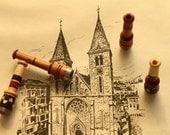 Bosnian VisokoWood Mini Lula Cibuk Handmade Wooden Smoking Pipe Cigarette Clip Blunt Holder Balkan Ethnic Folk Art Yugoslavia
