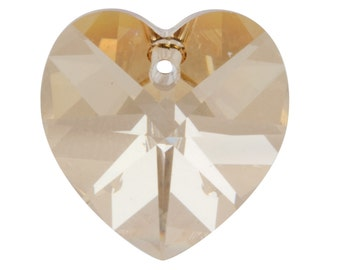 Swarovski Crystal Pack of 1 Heart, 6228, 10mm Light Silk