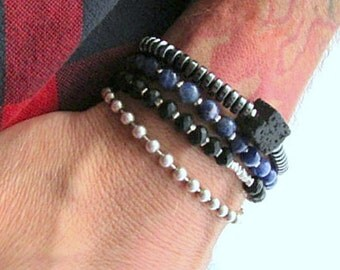 Men's Ball Chain Bracelet, 8 Inch Bracelet, 3mm Bracelet, Sterling Ball Chain, Bead Chain Bracelet, Silver Chain Bracelet, 925 Ball Chain