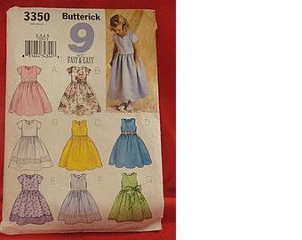 Little Girl's Dress Pattern ~ BUTTERICK 3350 ~ Size 2-3-4-5 ~ Uncut (1511)