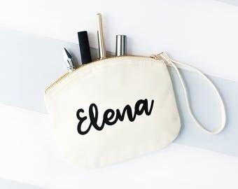 Personalised Pastel Makeup Bag - Name Makeup Bag - Cosmetic Bag - Toiletry Bag - Personalised Bag - Custom Makeup Bag - Travel Pouch Bag