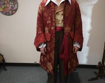 Pirate coat, sca, larp, reenactment, ren faire, costume, rogue