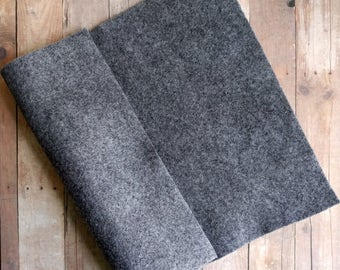 Smoke Gray Acrylic Felt Sheets or Circles, High Quality, Made in USA, Grey Felt, 5 9x12 Sheets or 30 Pack of 1 inch Circles, Quick Ship