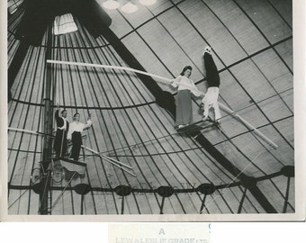 High wire balancing acrobatic Dressler vintage circus photo