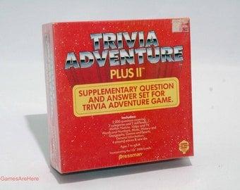 Trivia Adventure Plus II from Pressman 1984 Brand New