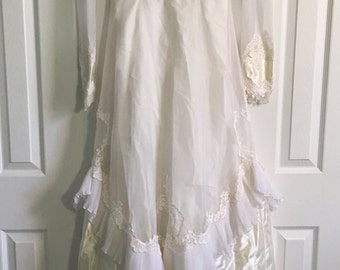 Vintage lacey bridal gown dress perfect for haunted Halloween decor costume wedding USA