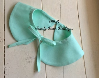 Mint Baby girl detachable Peterpan collar