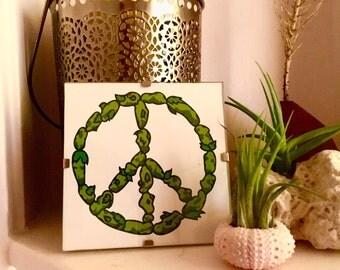 4x4 Marijuana Weed Kush Nug Peace Sign