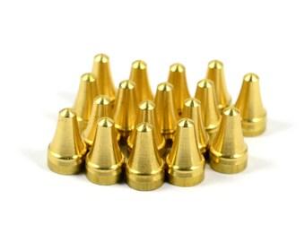 10 Pcs. Solid Brass 7x12 mm Rivet Stud  Spike Findings