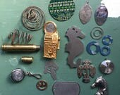 Steampunk lot, destash, metal trinkets, steampunk supply, crafters lot, assemblage lot, jewelry lot, junk lot