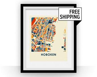 Hoboken Map Print - Full Color Map Poster