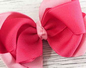 Pink Two-Toned Boutique Bow