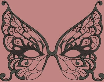 Masquerade Masks for Women - Masquerade Masks Machine Embroidery Designs INSTANT DOWNLOAD