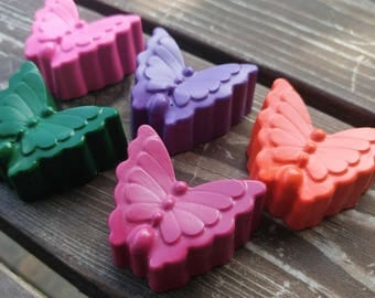 Butterfly Crayons set of 40 - Butterfly Party Favors - Butterfly Party - Garden Party