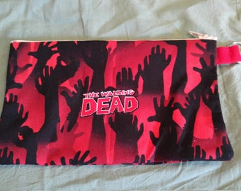 Red The Walking Dead Pencil Pouch
