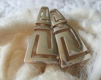 Sterling Silver Egyptian Style Earrings (st - 1915)