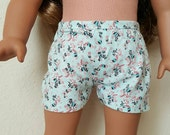 Floral Shorts for 18 inch dolls by The Glam Doll