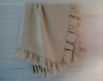 Baby blanket, crib blanket, linen blanket  - summer blanket  -   baby shower gift,