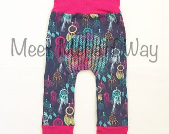 Dreamcatcher Maxaloones -- Grow With Me Pants -- Optional Bum Circle -- NB to 5 years