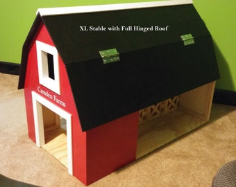 XL Wooden Toy Stables with Hay Bales Straw Bales & Fences ***Month of August only SPECIAL 10% OFF 10.00 or More***