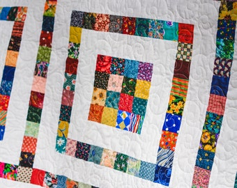 Postage Stamp Double Bed Quilt