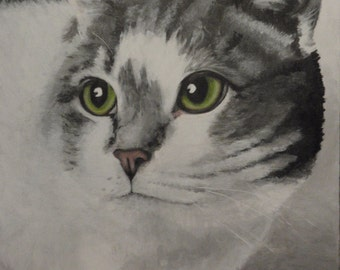 """Hand Painted Portrait of 'Roger' - Size 9""""x 12"""""""