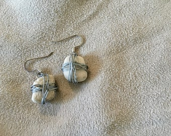 Handmade Wire-Wrapped Stone Earrings