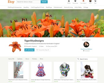 Our Home-wares and Accessories have moved to our new shop - TigerLillys Designs