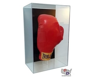 Boxing Glove Wall Mount Acrylic Display Case Full Size UV Protection