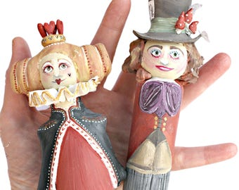 mad hatter wedding cake toppers mad hatter figures etsy 16979