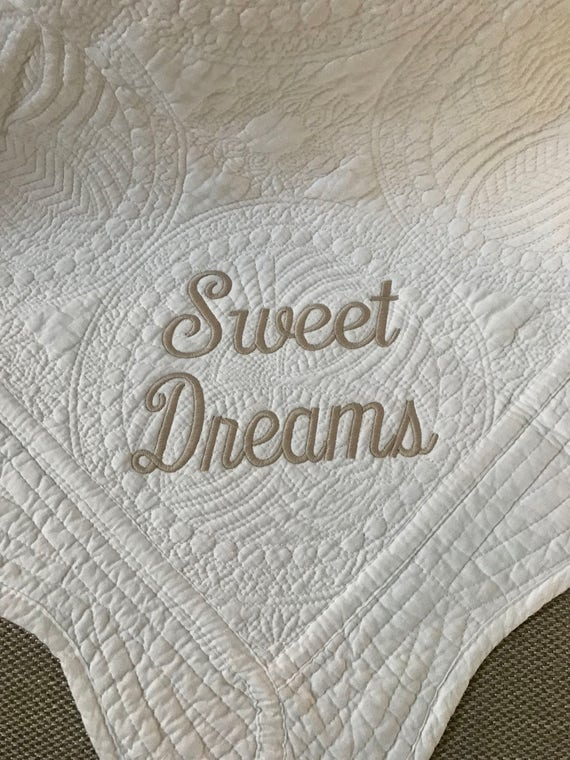 Monogrammed Baby Quilt- Sweet Dreams